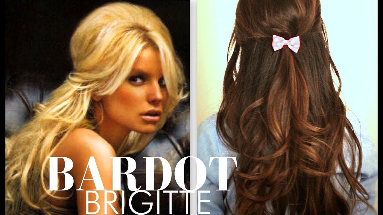 youtube hair up styles brigitte bardot hair tutorial everyday half up half 9198 | maxresdefault