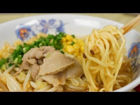 Pork Miso Ramen Recipe (Tips to Making Instant Noodles More Delicious) | Cooking with Dog