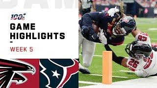 Falcons vs. Texans Week 5 Highlights | NFL 2019