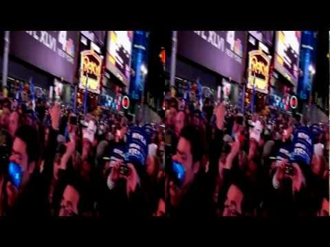 RECUT : Lady Gaga New Years 2012 NYC Time Square Ball Drop Pressing : VeeJayTsunaMiX 3D Full HD recut
