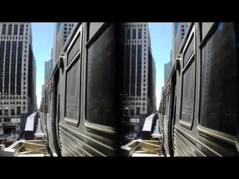 3D Chicago 'L' Train with Vitrima 3D GoPro Lens