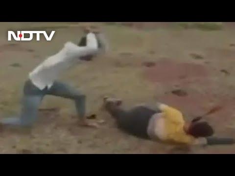Madhya Pradesh: Man thrashed on camera for allegedly harassing girl, viral video