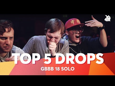 TOP 5 DROPS 😱 Grand Beatbox Battle Solo 2018