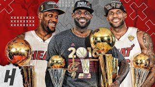 LeBron James BEST Highlights & Moments from ALL 9 NBA Finals   2007, 2011-2018