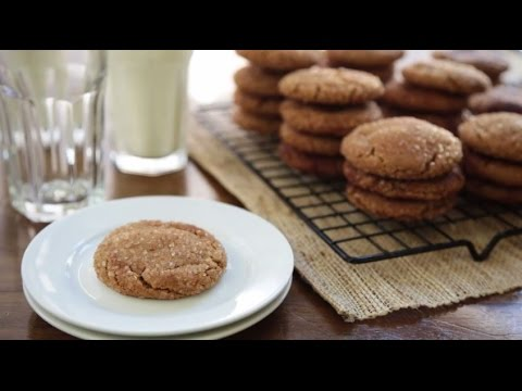 Cookie Recipes - How to Make Gingersnap Cookies