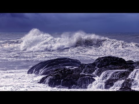 Ocean Waves Rain Sounds and Relaxing Music - Deep Sleep Relaxation