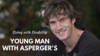 Young man with Asperger's