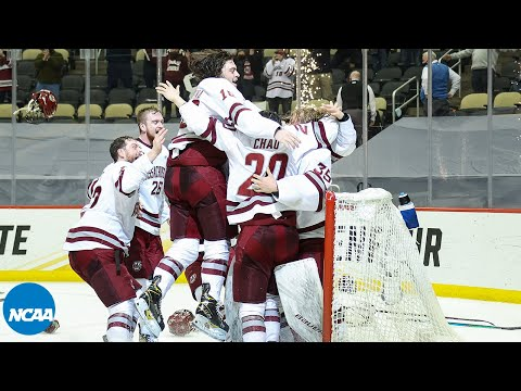 Final minute & celebration from UMass' first NCAA hockey title
