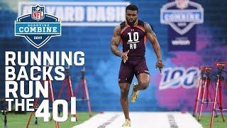Running Backs Run the 40-Yard Dash | 2019 NFL Scouting Combine Highlights