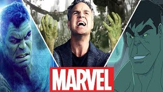 Evolution of Bruce Banner Transformations Into Hulk in Movies and Cartoons (2019)