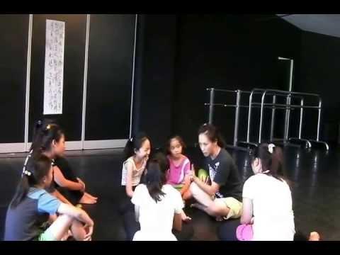 20130717 精靈跳藝夏 戲劇課程 課堂小呈現 黃采儀老師指導