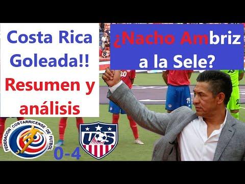 Costa Rica 0-4 Estados Unidos Partido amistoso