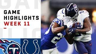 Titans vs. Colts Week 11 Highlights   NFL 2018
