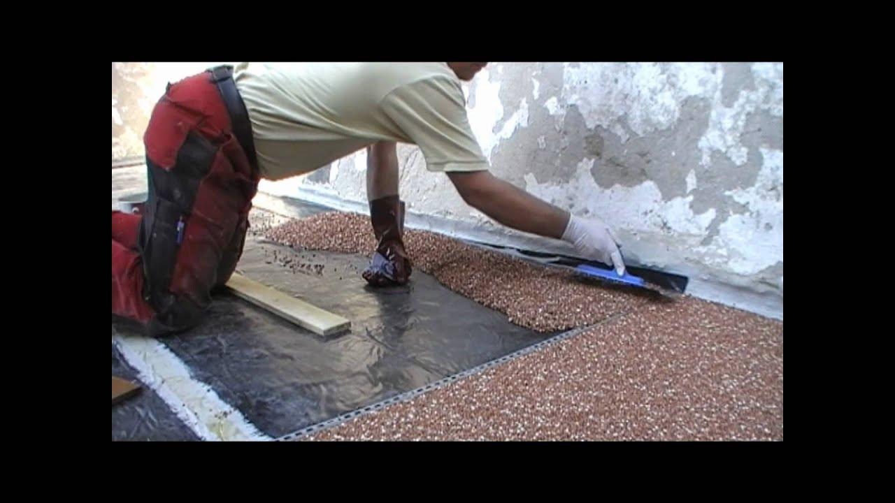 steinteppich steinchenboden kieselbeschichtung. Black Bedroom Furniture Sets. Home Design Ideas
