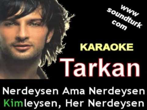 Tarkan - Her Nerdeysen karaoke
