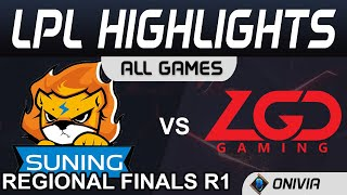 SN vs LGD Highlights ALL GAMES Round 1 LPL Regional Finals 2020 Suning vs LGD Gaming by Onivia