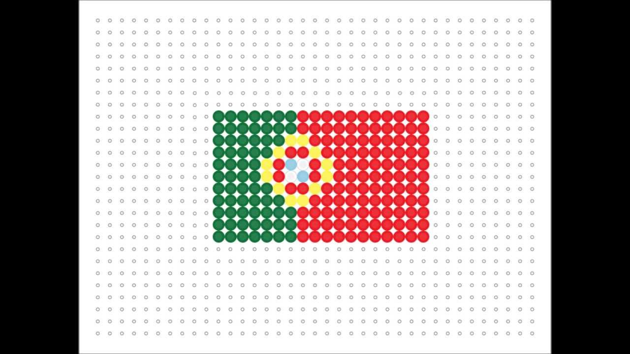 Hama Bead Portuguese Flag Flag Series 7 Youtube
