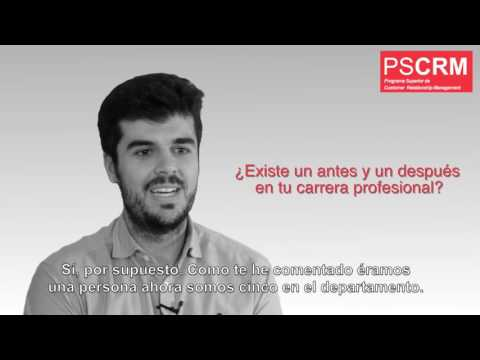 Protagonistas PSCRM: Saul Alonso, alumno del Programa Superior Customer Relationship Management