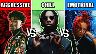 AGGRESSIVE RAP SONGS VS CHILL RAP SONGS VS EMOTIONAL RAP SONGS