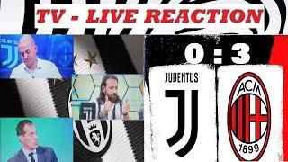 Juventus - Milan 0 : 3  / TV - Live reaction