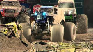 Monster Jam - Son-Uva Digger Monster Truck Full Freestyle Run from Miami Florida - 2012