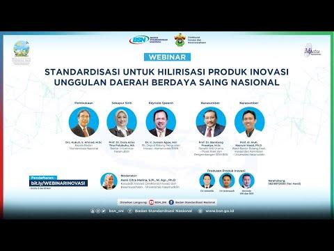 https://youtu.be/JAirkAaKTboStandardisasi untuk Hilirisasi Produk Inovasi Unggulan Daerah Berdaya Saing Nasional