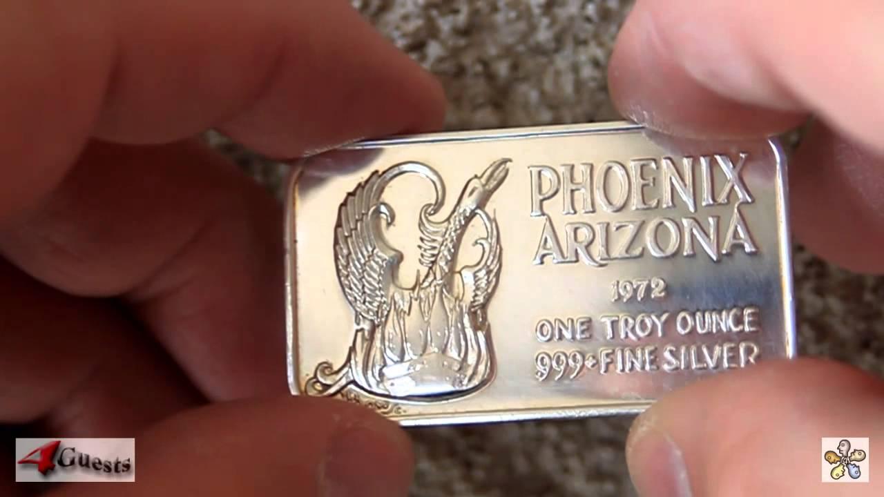 Phoenix Bird 1 Oz 999 Silver Art Bar Phoenix Arizona