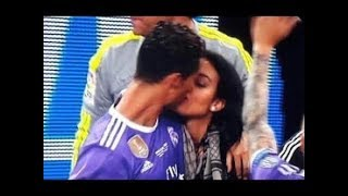 Cristiano Ronaldo and Georgina Rodriguez KISSING after match