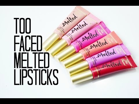 Review and Swatches: Too Faced Melted Liquified Long Wear Lipsticks