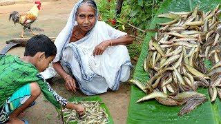 Village Food- Traditional Guche Macher Recipe by Grandmother- Pakal Mach Recipe- Indian Fish Recipe