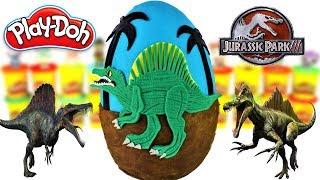 Huevo Sorpresa Gigante de Spinosaurus Jurassic Park 3 Plastilina Play doh Español