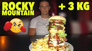 THE ROCKY MOUNTAIN BURGER !! + de 3 KG !