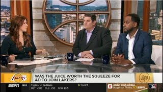 The Jump 7/15/2019 | [BREAKING NEWS] Was the Juice Worth the Squeeze for ad to join Lakers?