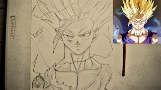 SPEED DRAWING SUPER SAIYAN 2 TEEN GOHAN! DRAGONBALL Z
