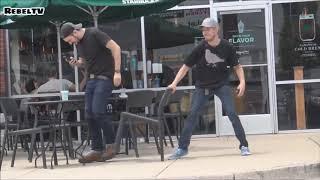 Ultimate 'Chair Pulling' Pranks Compilation   Funniest Public Pranks 2017