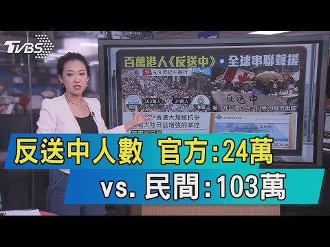 【說政治】反送中人數 官方:24萬vs.民間:103萬