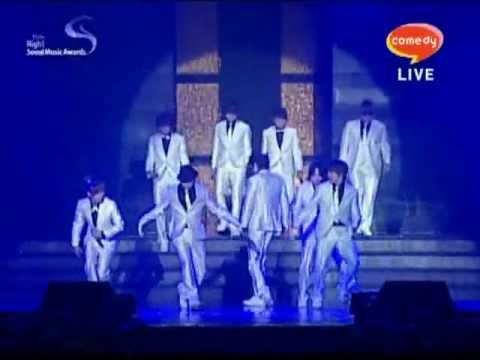 [HQ][100203] Super Junior - Super Girl (Korean Ver.) with 9 members @ 19th Seoul Music Awards