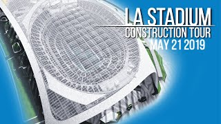 Rams Chargers LA Stadium Construction Tour May 21 2019