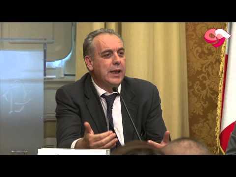 Il sottosegretario all'Economia Giovanni Legnini al convegno sul gioco pubblico