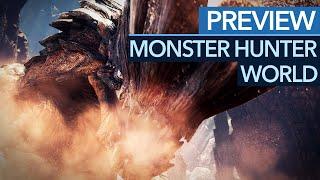 """Monster Hunter World - Vorschau / Preview: """"Wildturm-Ödnis"""" mit neuen Monstern erkundet (Gameplay)"""