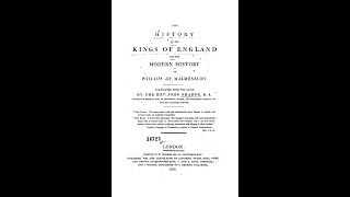 """Rev. John Sharpe's """"The History of the Kings of England and the Modern History of William of Malmesb"""