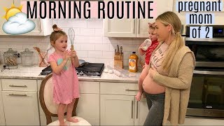 MORNING ROUTINE 2019 | PREGNANT MOM OF 2 | MORNING MOTIVATION | Tara Henderson
