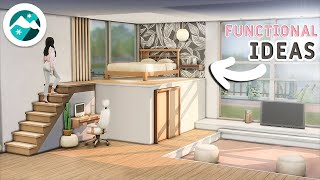 Tutorial 🌸Bedroom Ideas (Functional Platforms) | Snowy Escape & Base Game | No CC or Mods|  Sims 4