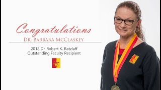 'Dr. Barbara McClaskey // 2018 Outstanding Faculty Recipient