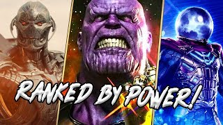 Marvel Cinematic Universe Main Villains RANKED By Power!
