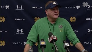 @NDFOOTBALL BRIAN KELLY PRESS CONFERENCE - SYRACUSE (11/15/18)