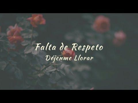 Carla Morrison - Falta de respeto (letra)