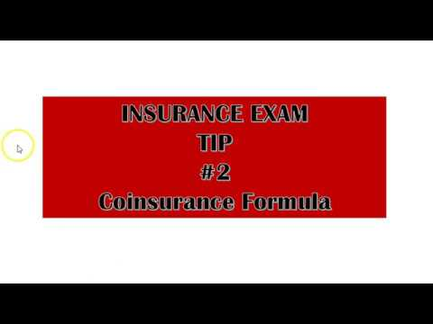 Insurance Exam Tip - Answering Questions -Coinsurance Formula