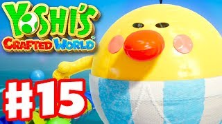 Yoshi's Crafted World - Gameplay Walkthrough Part 15 - Burt the Ball Boss Fight!