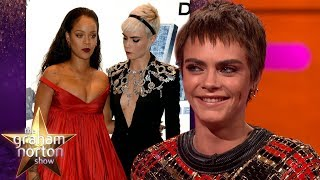 Cara Delevingne Couldn't Stop Staring at Rihanna | The Graham Norton Show